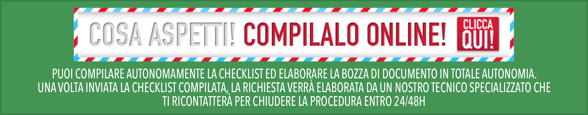 compila la checklist del documento
